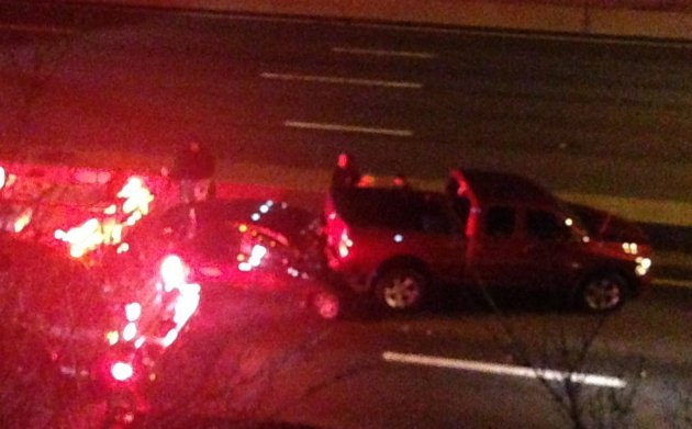 Crash on I-93 north in Dorchester