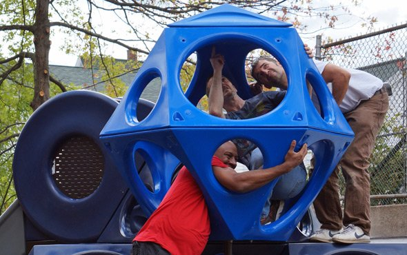 Building a new playground at the Sumner School in Roslindale
