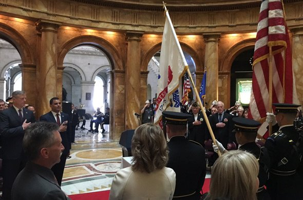 Veterans Day service at the State House