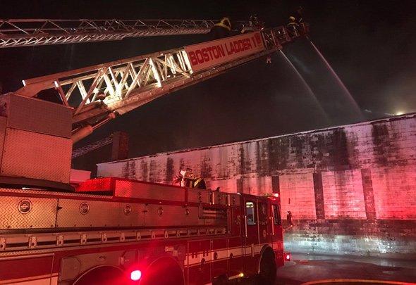 East Boston warehouse fire