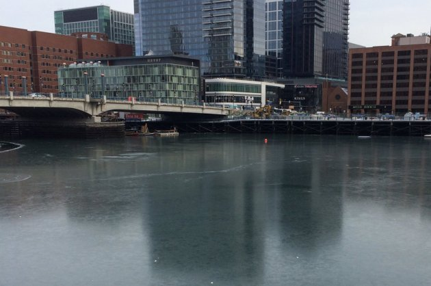 Frozen Fort Point Channel