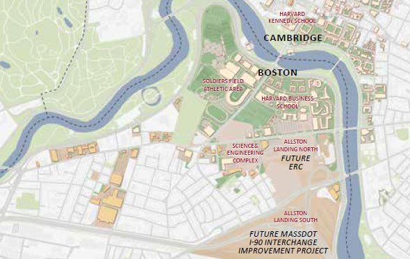 Boston Map Harvard.Harvard Plans An Innovation District Of Its Own Next To Train