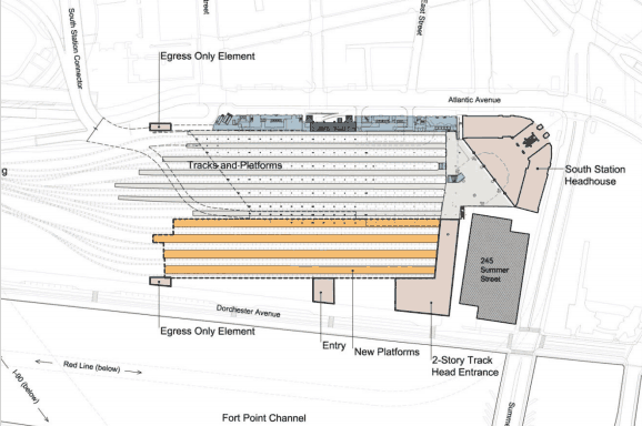 Proposed new South Station layout