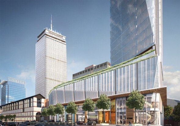 Architect's rendering of 1000 Boylston St.