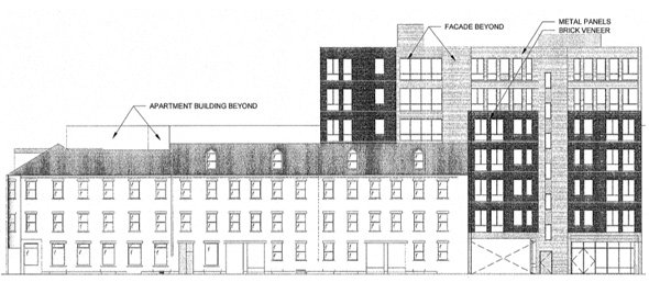 Architect's rendering of 191 Sumner Street in East Boston