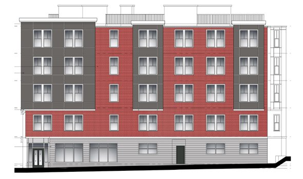 Architect's rendering of 425 Border St.