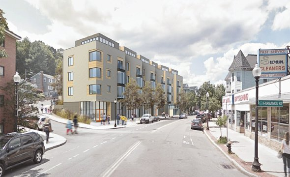 Architect's rendering of 544 Washington St. in Brighton