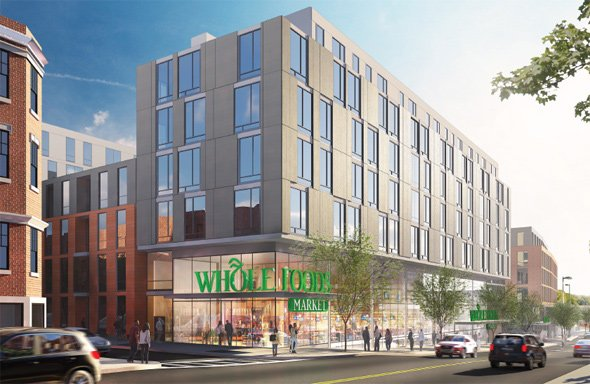 Architect's rendering of new Whole Foods complex