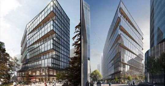 Proposed Amazon building in Seaport Square