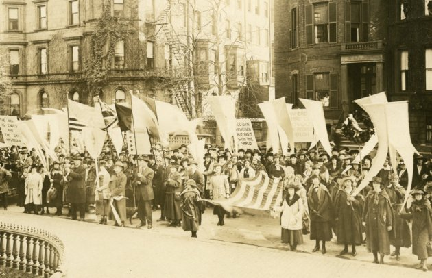 Back Bay Armistice celebrations