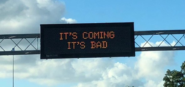 Sign warning about Commonwealth Avenue work