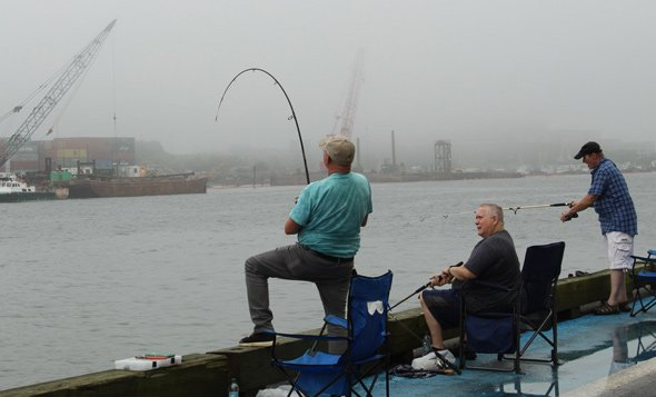 Fishing at the Reserved Channel in South Boston