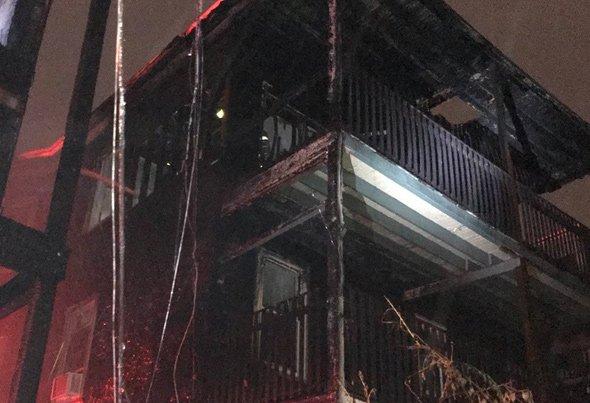 Boston Street fire remains