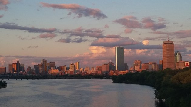 Sunset from the BU Bridge