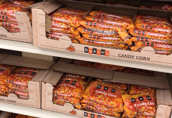 Candy corn on display on July 18