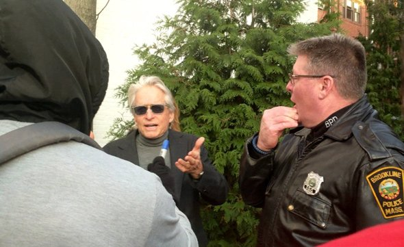 Michael Douglas in Coolidge Corner