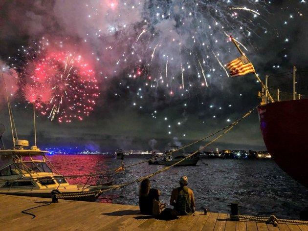 Harbor fireworks