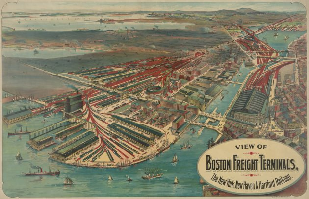 Boston's Fan Pier back in the day
