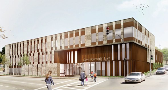 Conservatory Lab Charter School rendering
