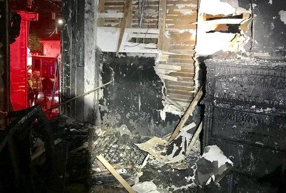 Interior of Ranier Road house after fire