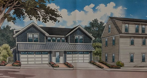 Proposed suburban duplex