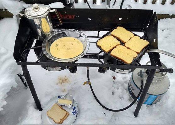 Getting French toast ready in Uxbridge
