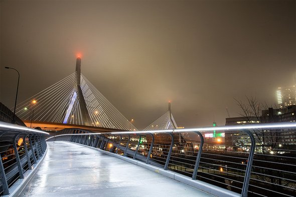 Zakim Bridge from the North Point Bridge