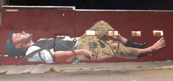 Vivant Vintage mural before defacement