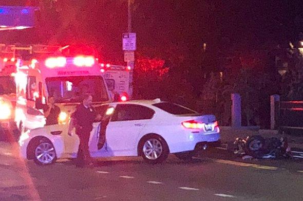 Crash on Washington Street in Roslindale