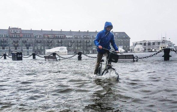 Bicycling in Boston Harbor