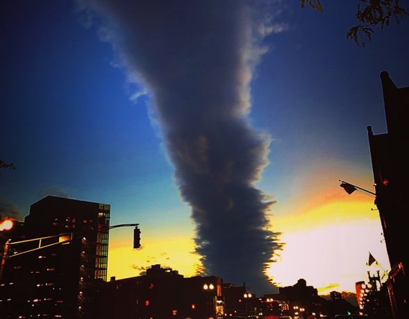 Weird cloud over Boston