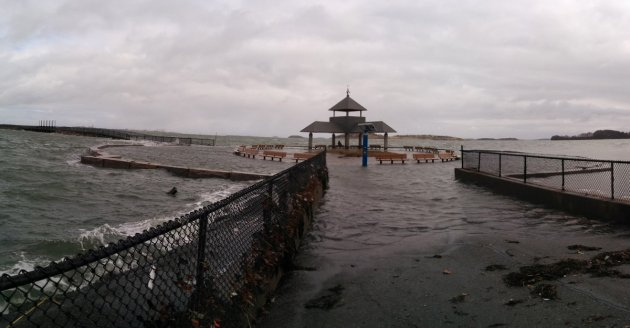 Flooding at Castle Island