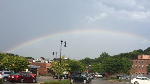 Rainbow over West Roxbury