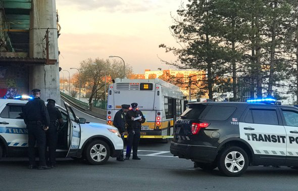 Crash scene at ramp to Tobin Bridge