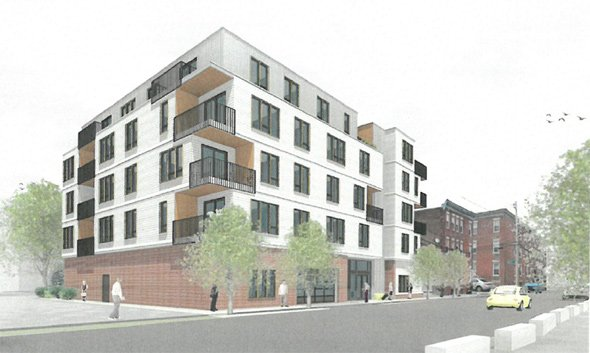 Architect's rendering of 28-30 Geneva Ave.