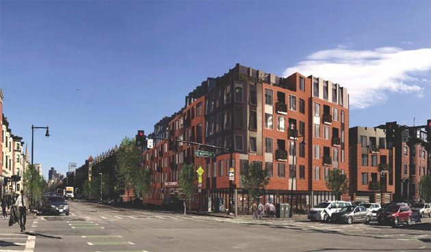 Architect's rendering of new 566 Columbus Ave.