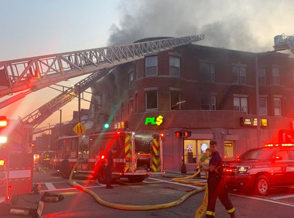 Fire at 600 Blue Hill Avenue