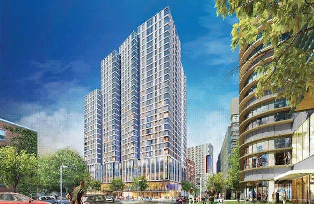 Architect's rendering of proposed 840 Columbus Ave. building