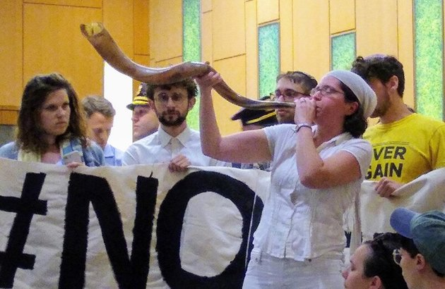Blowing the shofar against ICE