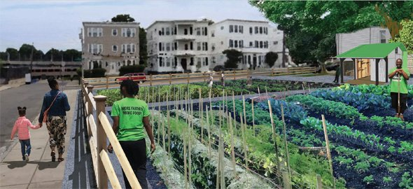 Rendering of proposed Flint Street farm