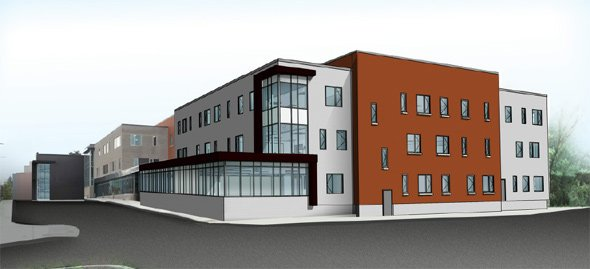 Proposed addition to Boston Prep building in Hyde Park
