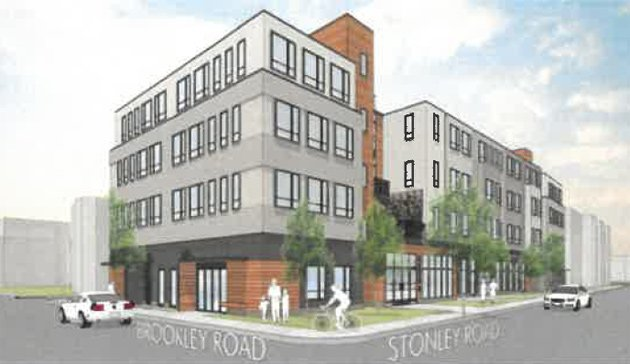 Architect's rendering of Brookley Road proposal
