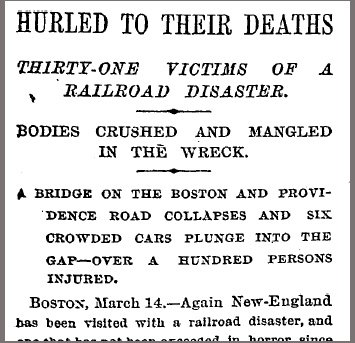 New York Times account of the Bussey Bridge disaster.