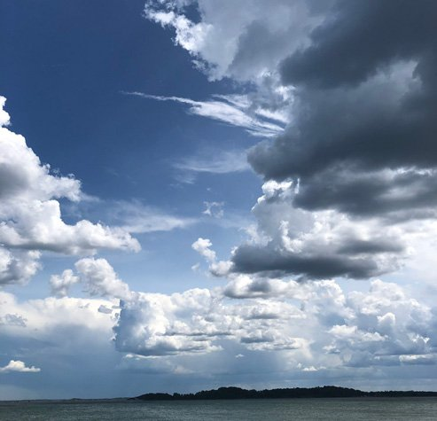 Clouds from Castle Island
