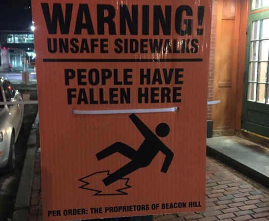 Bad sidewalks on Beacon Hill: Watch out