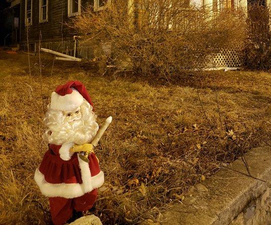 Creepy Santa in West Roxbury
