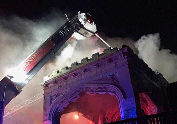 Firefighters at Holy Mt Zion Church fire