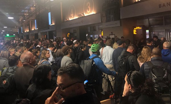 Crowds at North Station