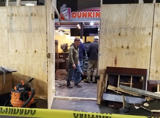Dunkin' Donuts being renovated in North Station