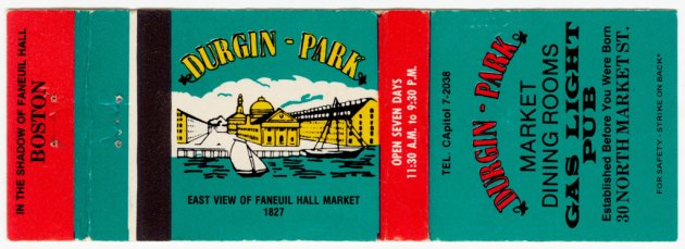 Durgin-Park matchbook cover